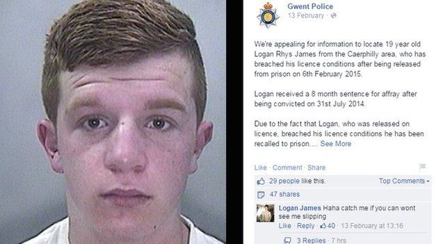 Burglar posts reply to police on Facebook