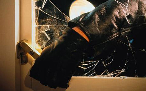 Broken glass burglary