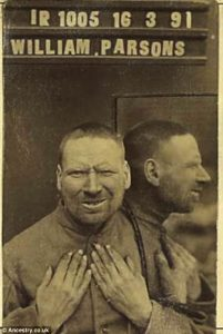 mugshot William Parsons