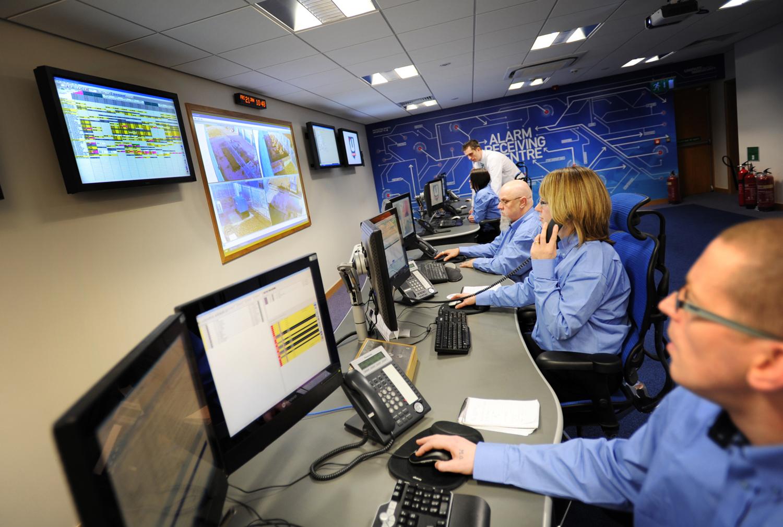 Monitored fire alarm - alarm receiving centre.
